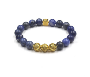 Sodalite Stone and Gold
