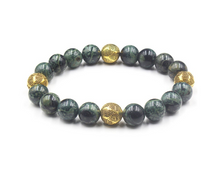 Load image into Gallery viewer, Dark Green Jade and Gold