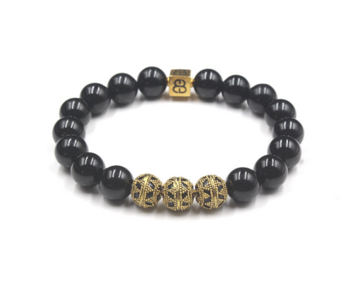 Black Obsidian and Gold