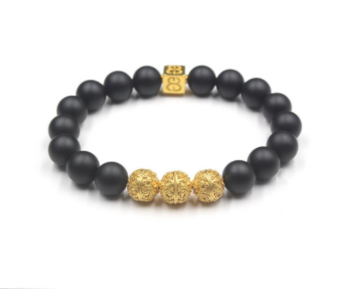 Matte Black Onyx and Gold