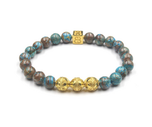 Blue Jasper and Gold