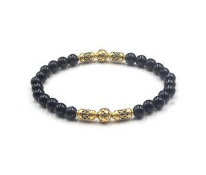 Polished Black Onyx and Gold