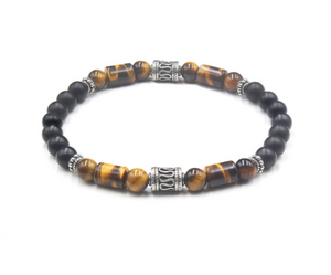 Tiger's Eye, Black Onyx and Sterling Silver