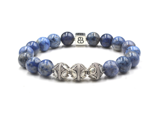Dumortierite blue stone and Silver