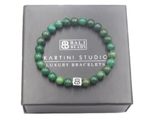 Load image into Gallery viewer, African Jade Verdite Bracelet and Sterling Silver