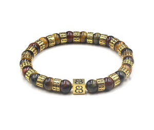Mixed Tiger's Eye and 22K Gold