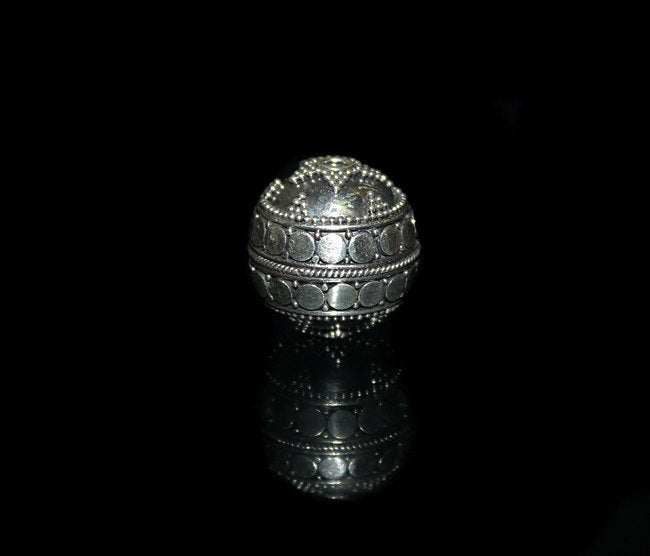 Single 18mm 925 Sterling Silver Bead