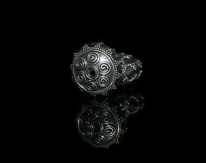Two 17mm Sterling Silver Granulation Beads
