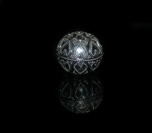 Single 22mm Sterling Silver Granulation Bead