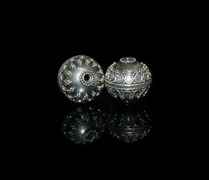 Two 15mm 925 Sterling Silver Granulation Beads