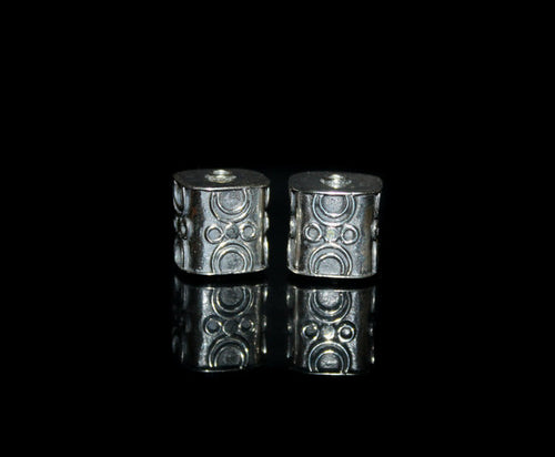 Two 14mm Sterling Silver Rectangular Beads