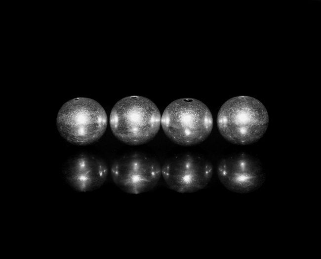 Four 10mm Sterling Silver Ball Beads