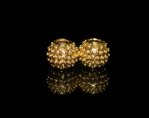 Two 12mm x 14mmGold Vermeil Beads