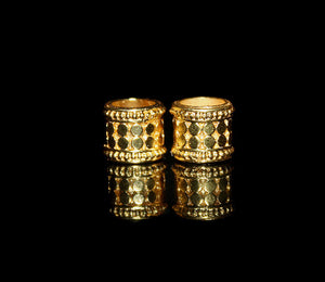 Two 10mm Vermeil Beads