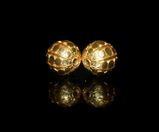 Two 14mm 22 Karat Gold Vermeil