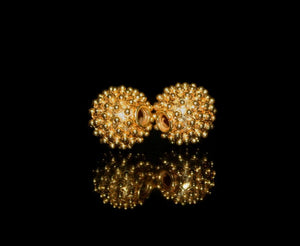 Two 12mm Gold Vermeil Beads