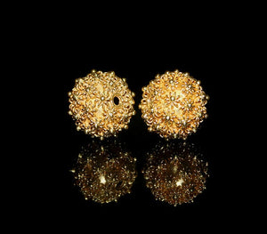 Two 16mm Gold Vermeil Beads