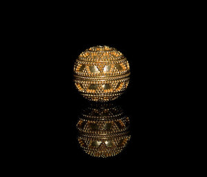 Single 20mm 22K Gold Vermeil  Bead