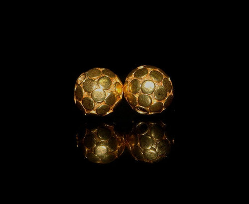 Two 9mm Gold Vermeil Bali Beads