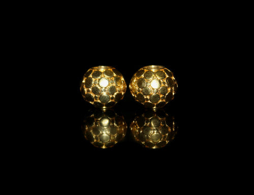 Two 14mm Gold Vermeil