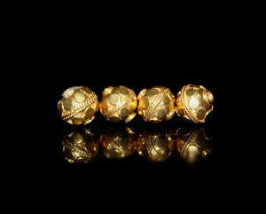 Four 8mm Gold Vermeil Beads