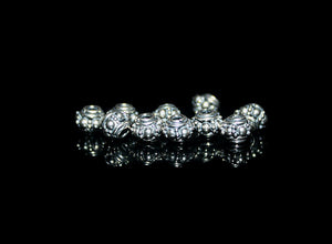 10 x 6mm Sterling Silver  Barrel Spacers Beads