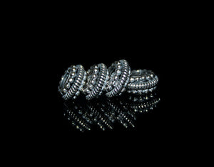 Four 10mm Sterling Silver Rondelle Spacer Beads