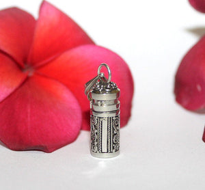 Perfume Bottle, Oil Bottle, Sterling Silver Perfume Bottle Necklace, Sterling Silver Oil Bottle, Essential Oils Bottle, Perfume Vial