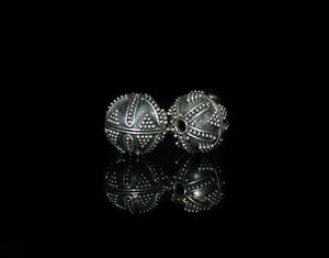 Two 10mm Sterling Silver Granulation Beads