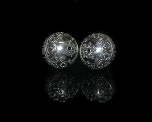 Two 18mm Sterling Silver Beads