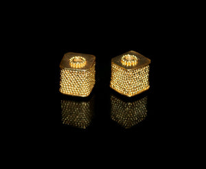 Two 12mm 24 Karat Gold Vermeil Beads