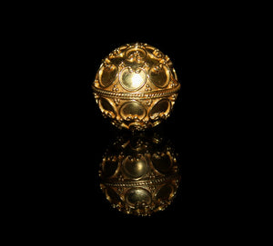 Large 22 Karat Gold Vermeil Bead