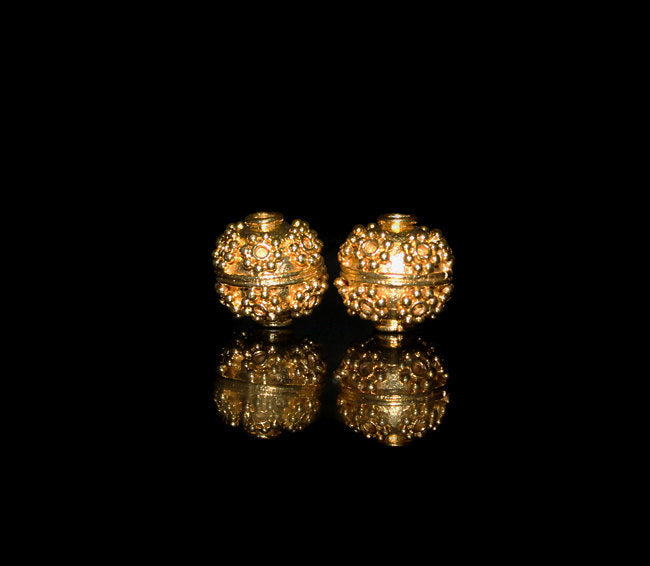 Two 11m Gold Vermeil Beads