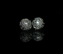 Load image into Gallery viewer, Two 10mm Sterling Silver Bali Beads