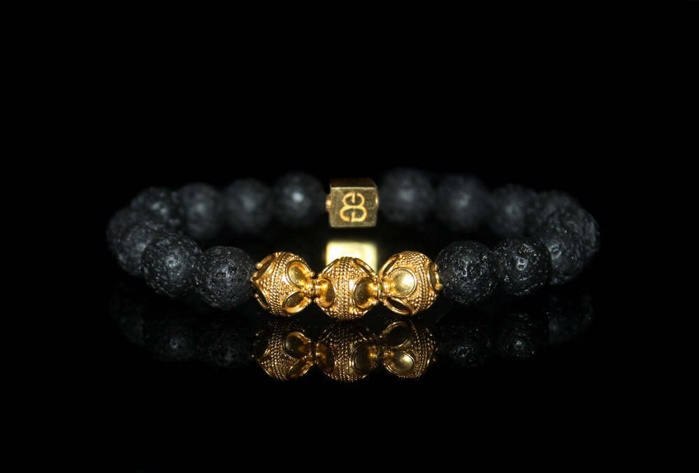Lava Stone and Gold Vermeil