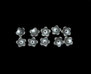 10 pcs Sterling Silver Bead Caps, 10mm.