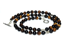 Load image into Gallery viewer, Matte Black Onyx and Tiger's Eye