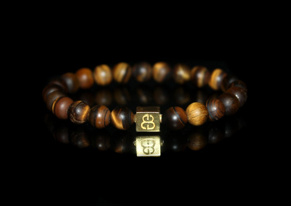 Matte Tiger Eye and Gold