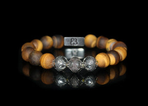 Matte Tiger's Eye and Sterling Silver