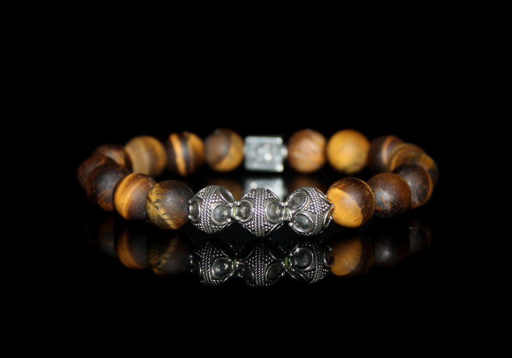Matte Tiger's Eye and Silver