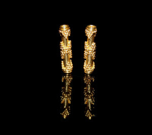 Two 20mm x 4mm Gold Vermeil Beads