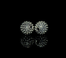 Load image into Gallery viewer, Two 12mm Sterling Silver Bali Granulation Beads