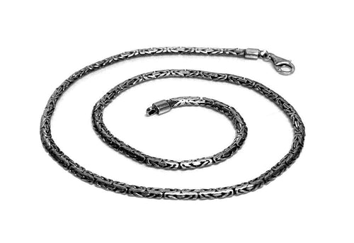 4mm Byzantine Sterling Silver Chain