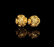 Load image into Gallery viewer, Two 10mm 22K Gold Vermeil Beads