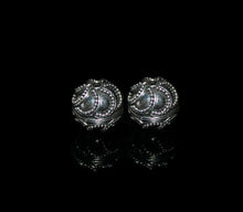 Load image into Gallery viewer, Two 12mm Sterling Silver Granulation Beads