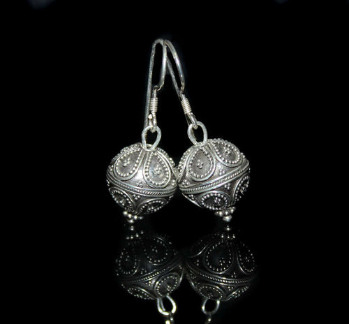 Sterling Silver Bali Granulation Beads