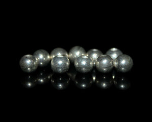 Ten 6mm Sterling Silver Ball Beads