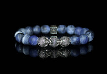 Load image into Gallery viewer, Matte Sodalite and Sterling Silver