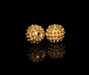 Two 11mm Gold Vermeil Beads