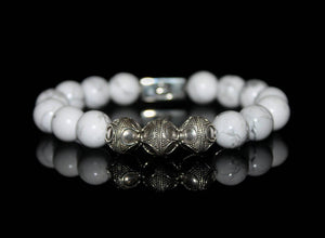 White Howlite and Silver
